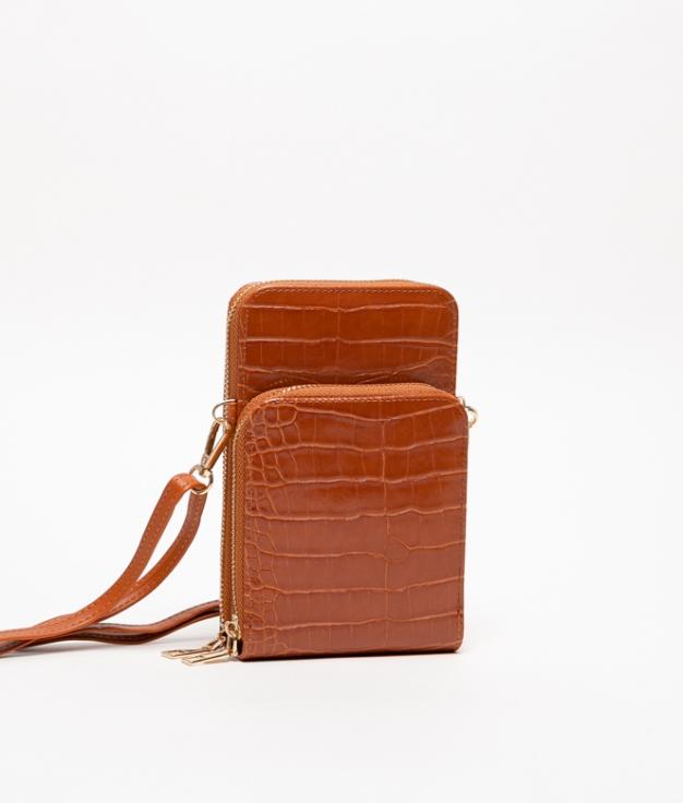 Wallet Mobile Holder Famatina - Brown