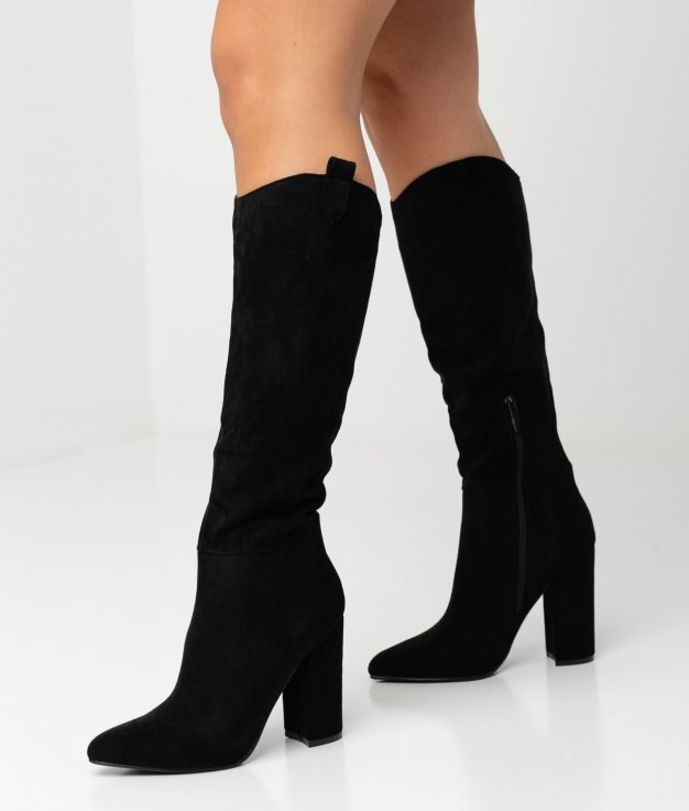 FRELY KNEE-LENGHT BOOT - BLACK