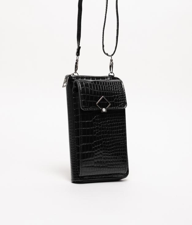 Bandolera portamóvil Rancul - Negro