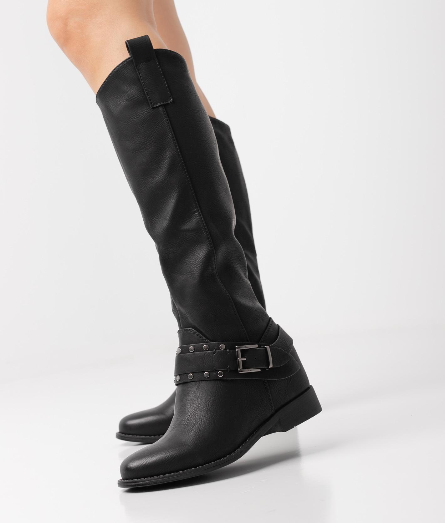 TULIN KNEE-LENGHT BOOT - BLACK