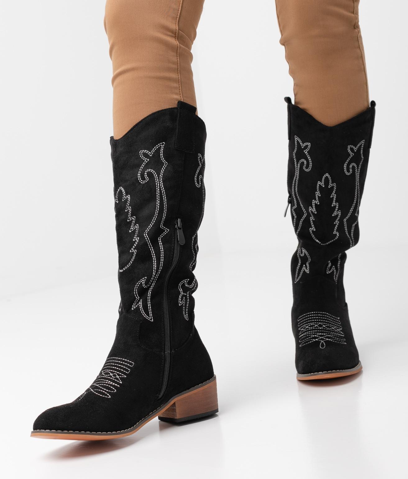 Cilar Knee-Lenght Boot - Black