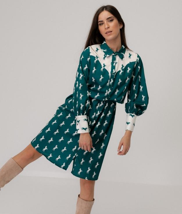 Vestido Bernera - Vert