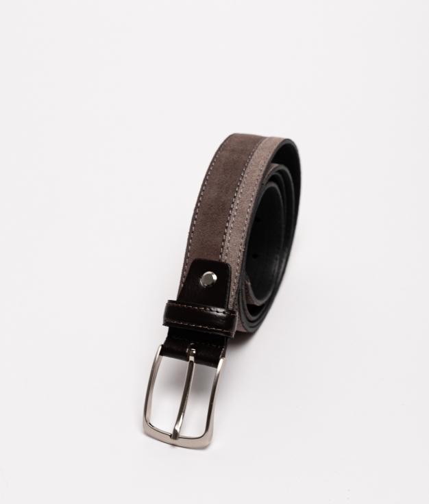 Cinturón de piel Bico - Taupe