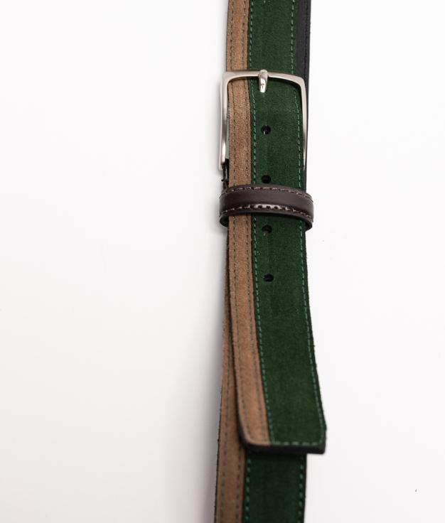 Cinturón de piel Bico - Green