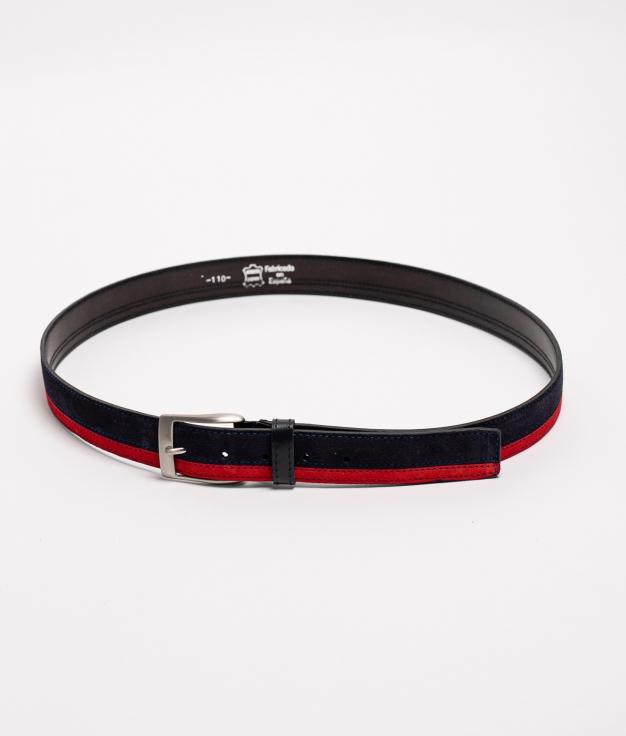 Cinturón de piel Bico - Navy
