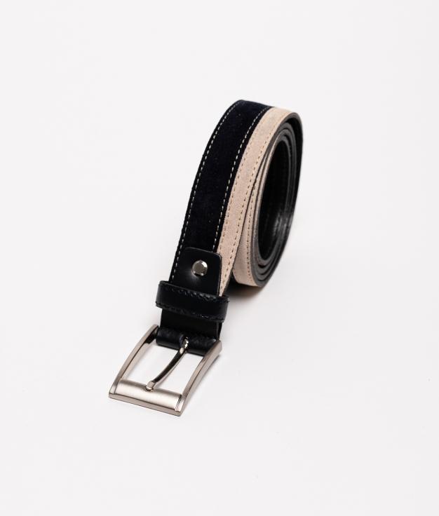 Cinturón de piel Bico - Navy B