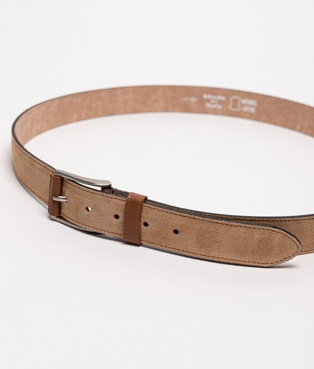 Cinturón piel Dora - areia