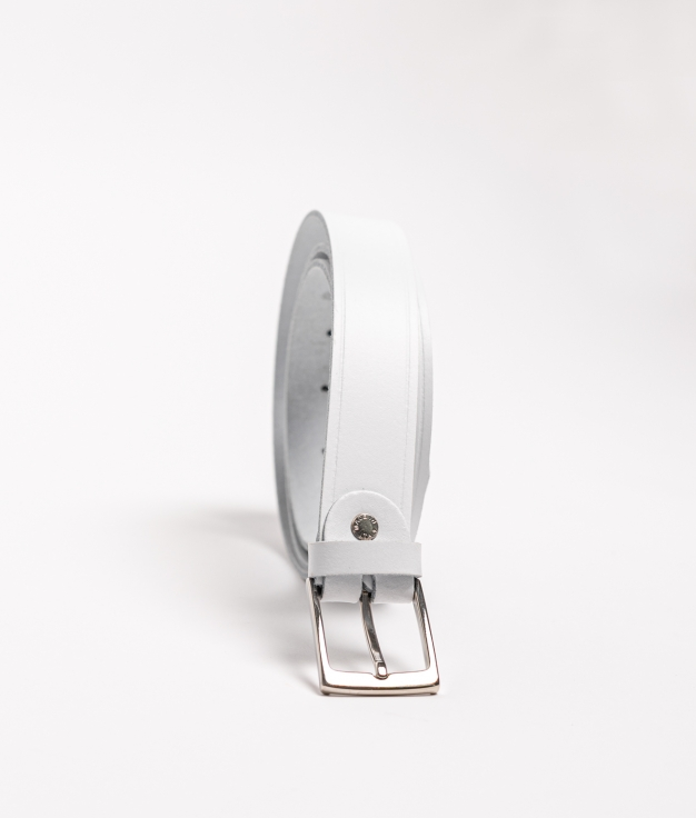 Cinturón piel Dora - blanc
