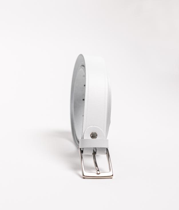 Cinturón piel Dora - white