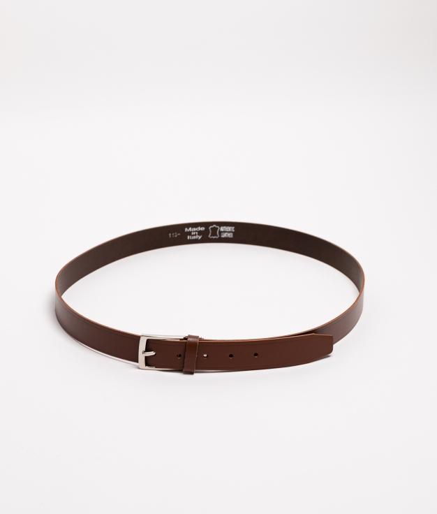 Cinturón piel Dora - brun