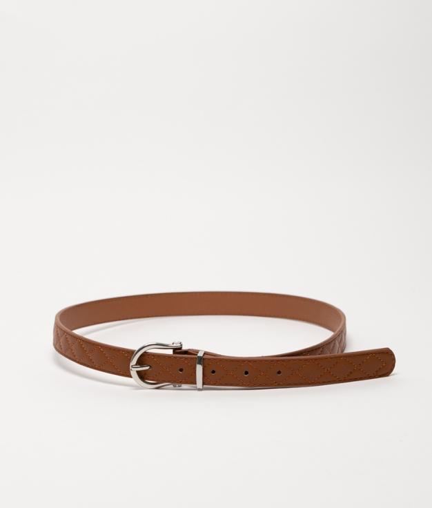 Cinturón X - couro