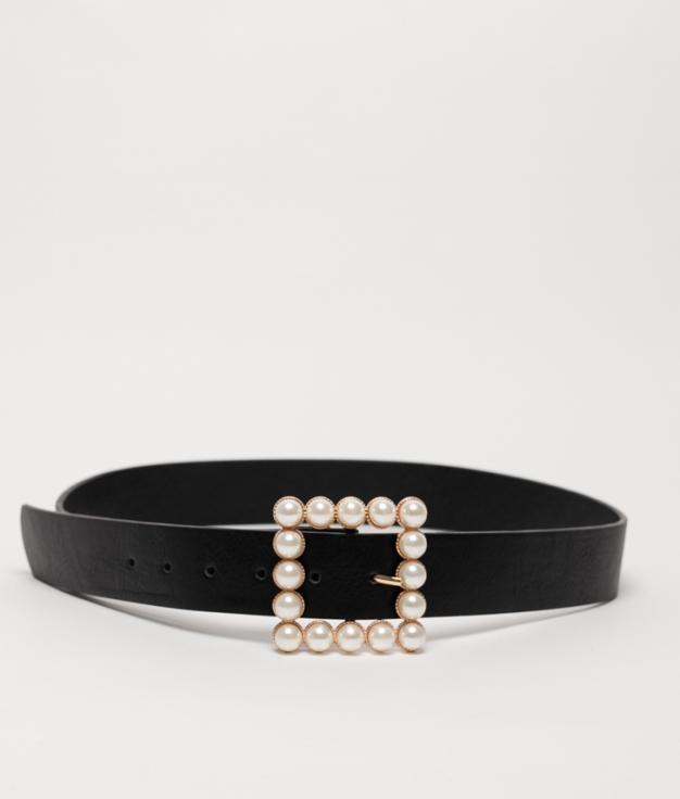 Cinturón Perla - nero
