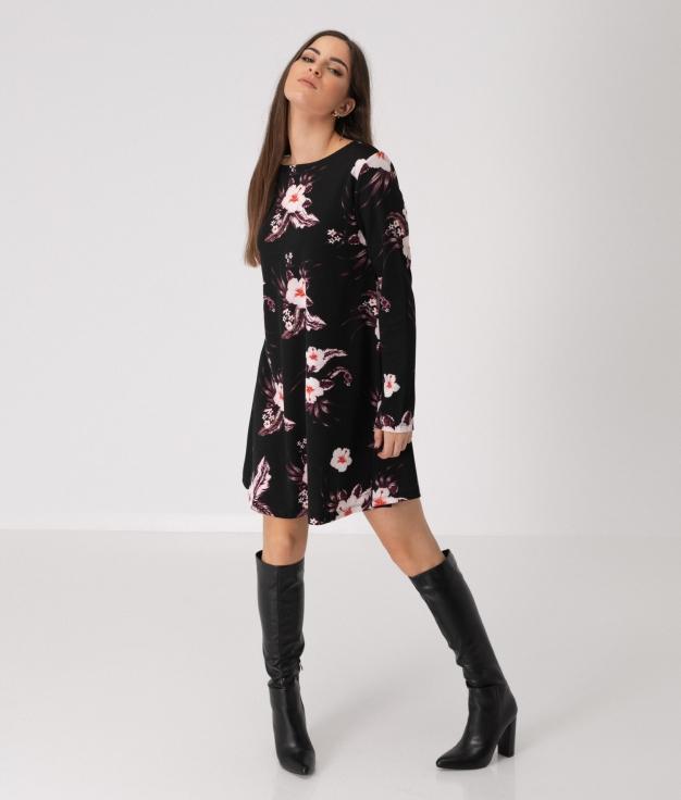 Vestido Hibisco - Negro