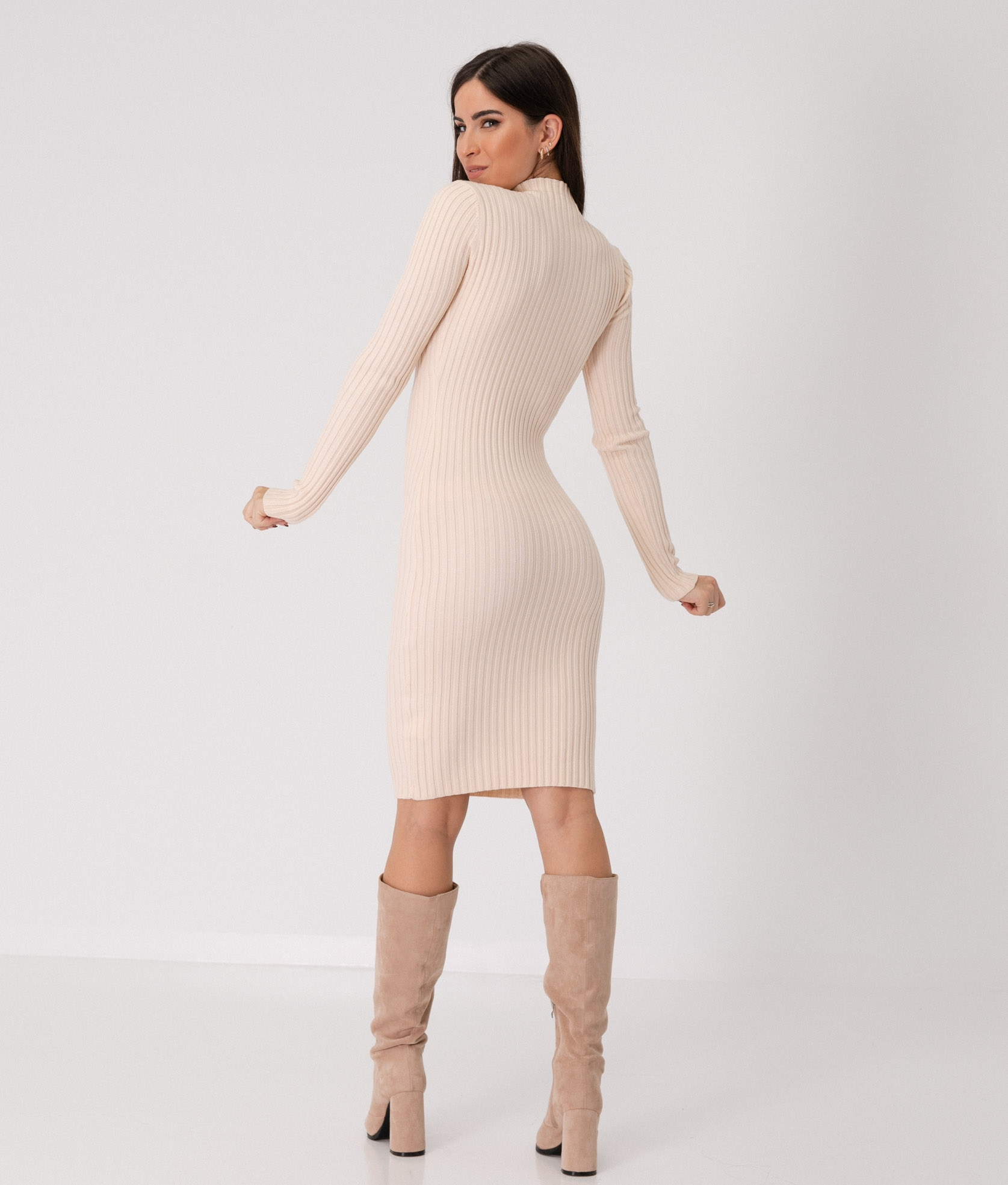 YUNCALE DRESS - BEIGE