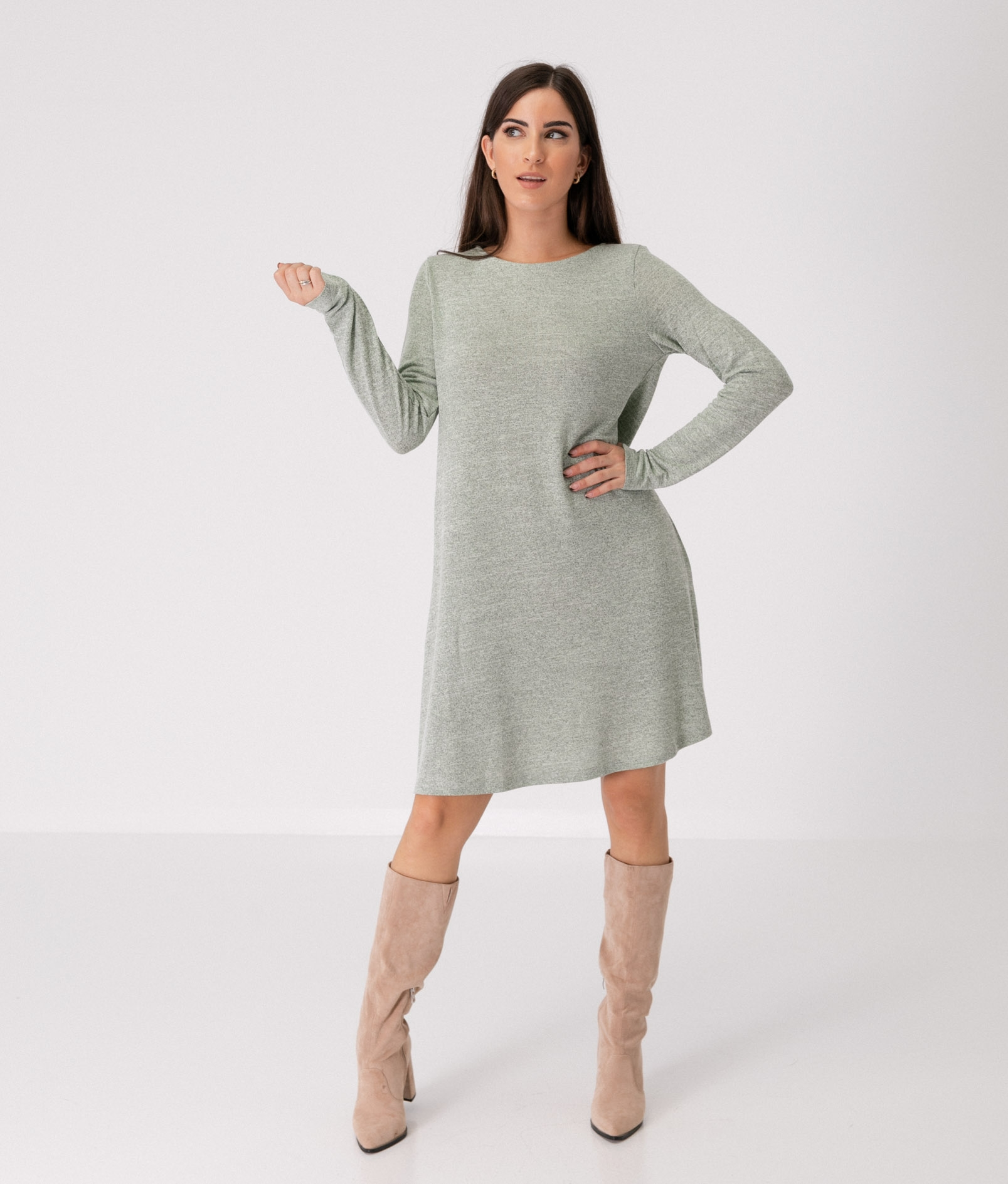 SAKIA DRESS - GREEN