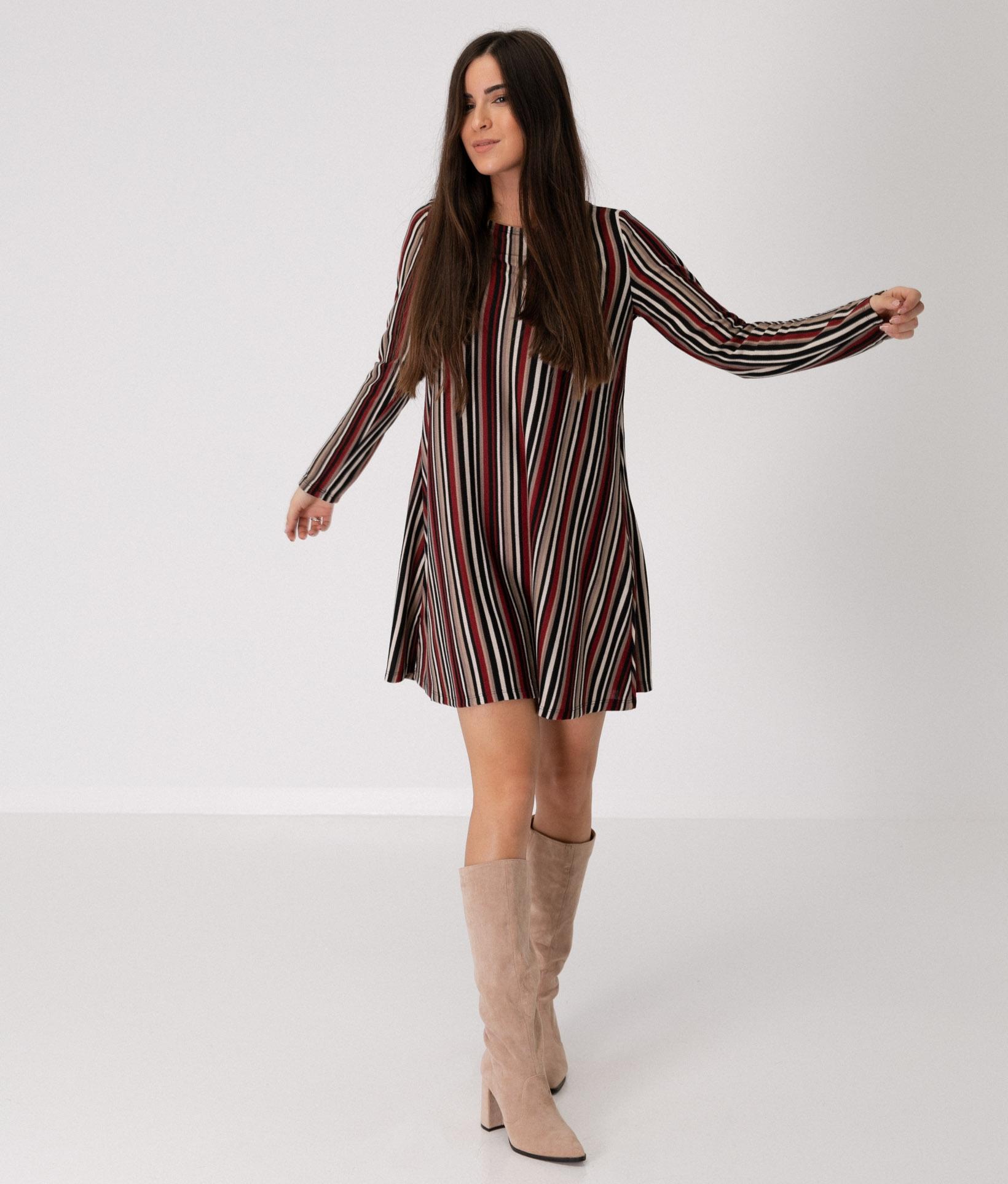 MIRIADE DRESS - MAROON