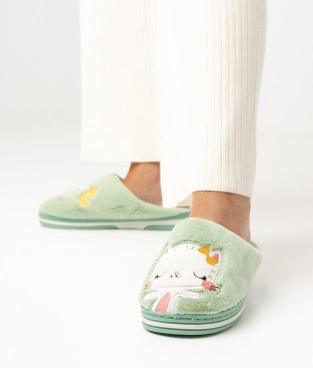 CATY SLIPPERS - GREEN