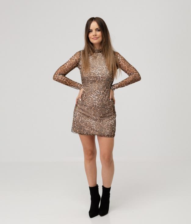 TOLOSA DRESS - LEOPARD