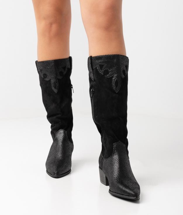 Roma Knee-length Boot - black