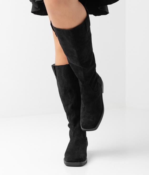Carlie Knee-length Boot - black