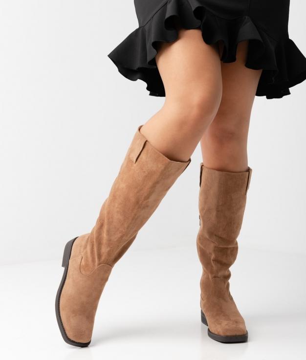 Carlie Knee-length Boot - Camel