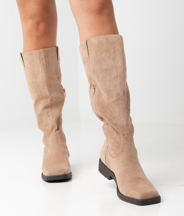 Carlie Knee-length Boot - apricot