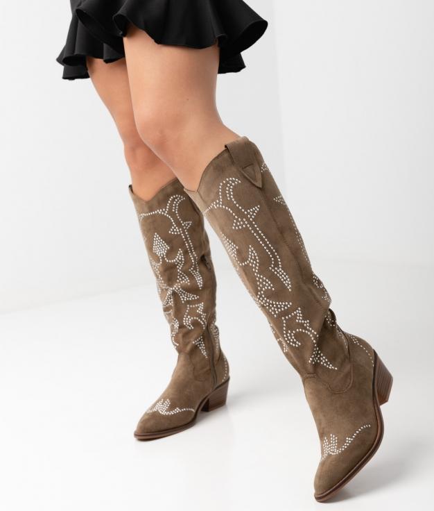 Knee-length Boot Rener - Green