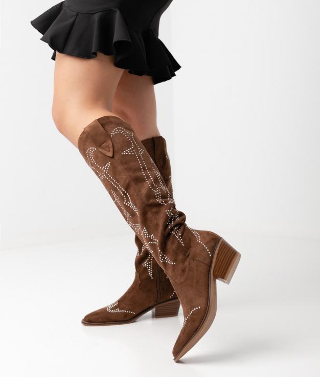 Knee-length Boot Rener - Brown