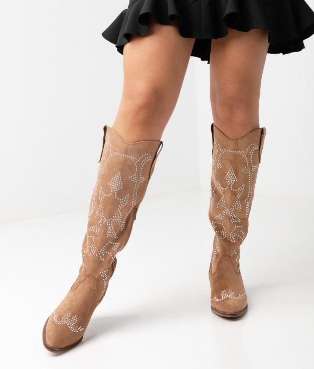 Knee-length Boot Rener - Camel