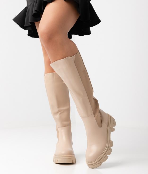 Knee-Length Boot Kuzy - Beige