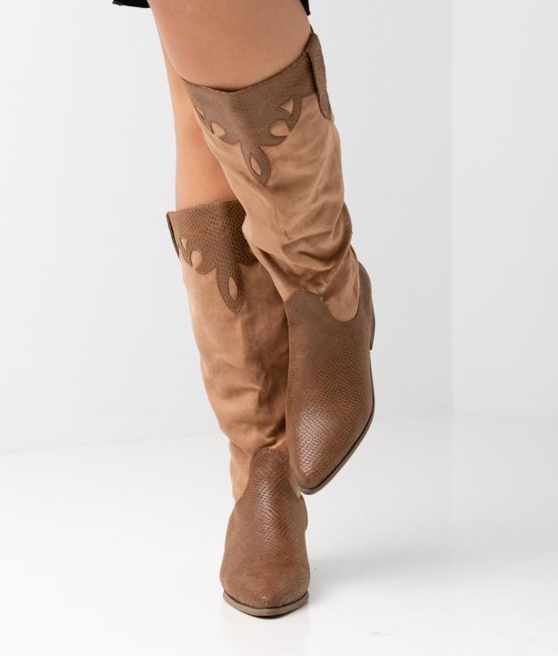 Roma Knee-length Boot - camel