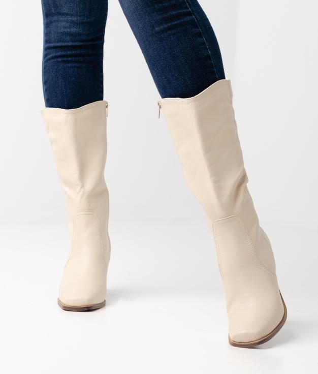 Eleria Knee-length Boot - Beige
