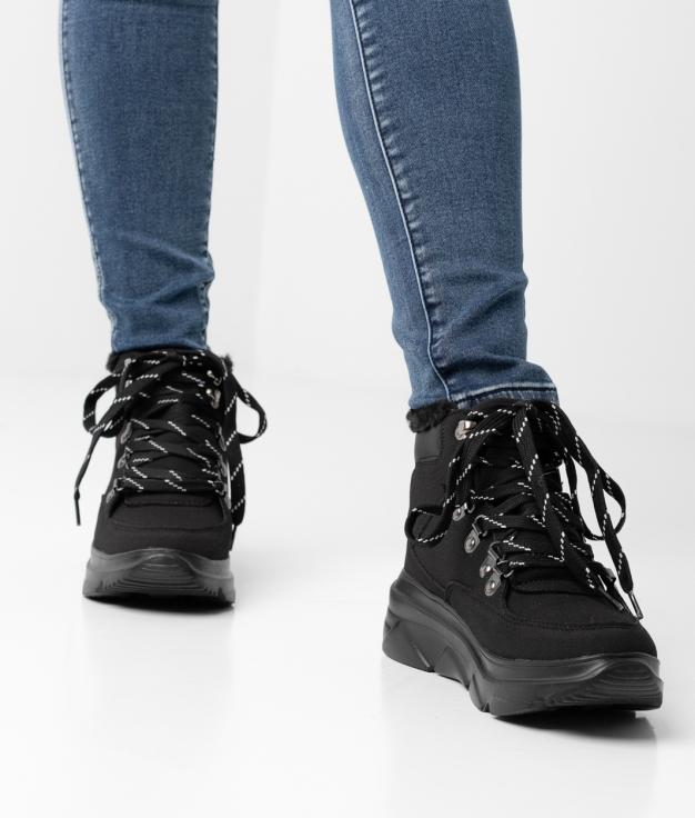 WENGE Low Boot - BLACK