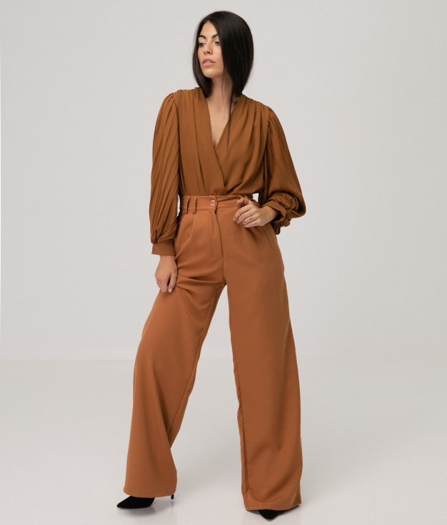 IDEL TROUSERS - CAMEL