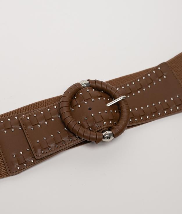 Cinturón elastico Sidonia - marro