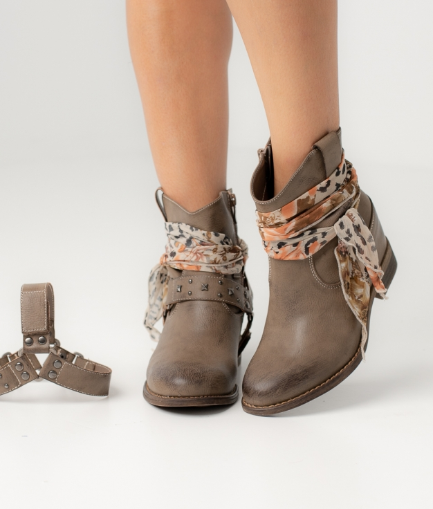 SUNIA LOW BOOT - TAUPE